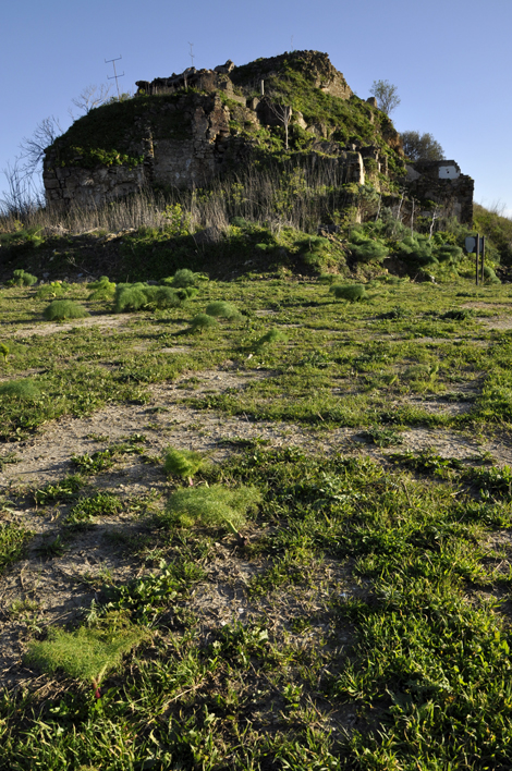 The hill of Salaparuta where once was standing the castle